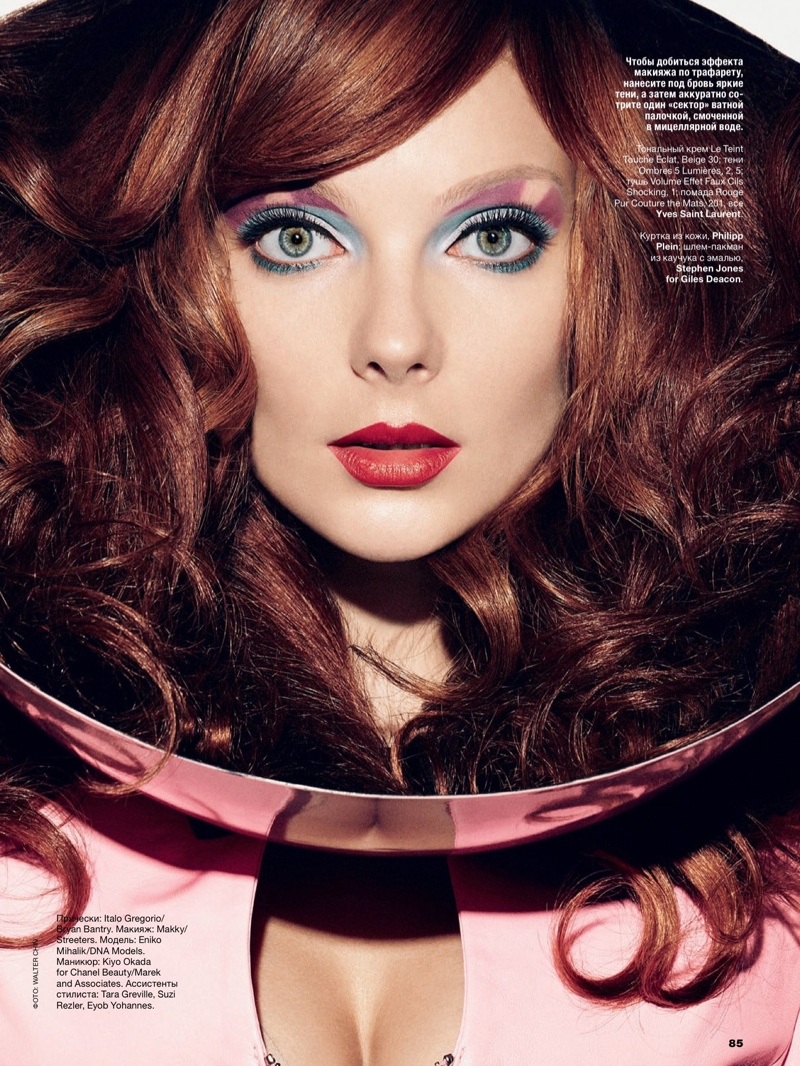 eniko mihalik beauty shoot5 Eniko Mihalik Models Glam Beauty for Allure Russia August 2013 by Walter Chin