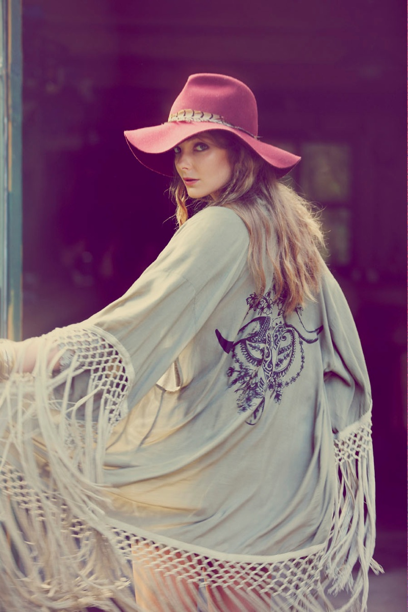 Eniko Mihalik Fronts Free People's July Lookbook