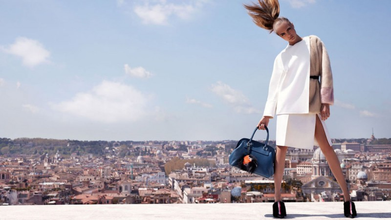 fendi fall winter ads2 800x450 Fendi Taps Cara Delevingne and Saskia de Brauw for Fall 2013 Ads