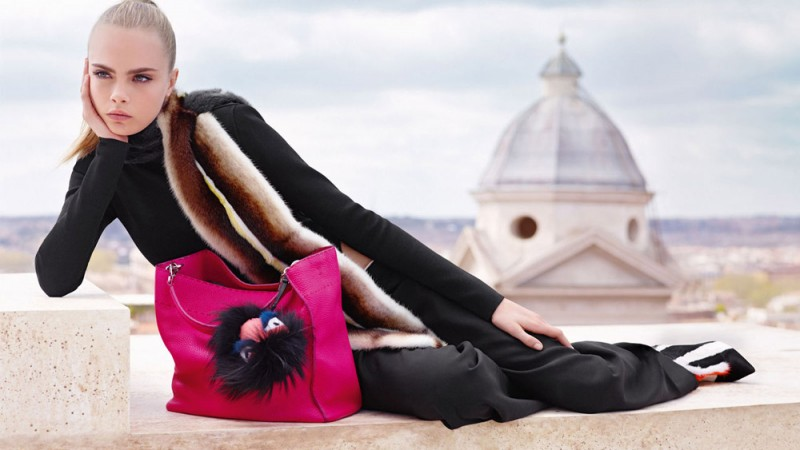 fendi fall winter ads3 800x450 Fendi Taps Cara Delevingne and Saskia de Brauw for Fall 2013 Ads