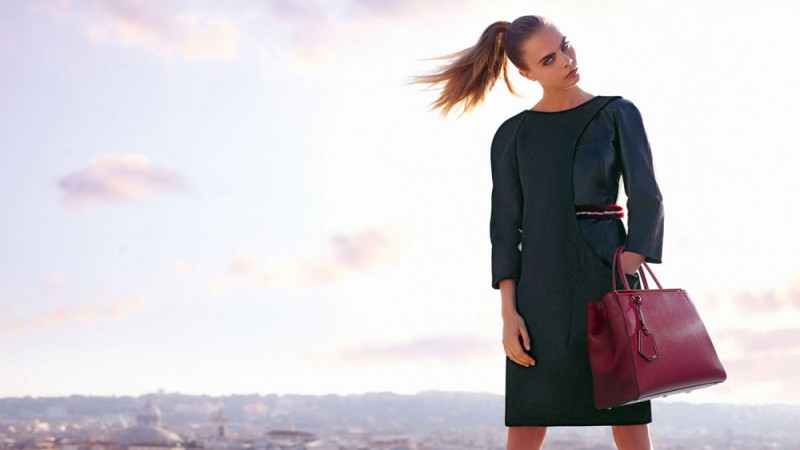 fendi fall winter ads8 800x450 Fendi Taps Cara Delevingne and Saskia de Brauw for Fall 2013 Ads