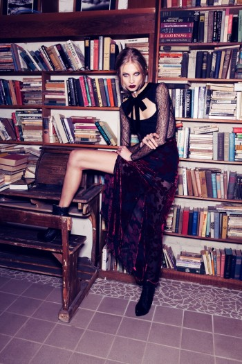 Anna Selezneva Gets Gothic in For Love & Lemons Fall 2013 Ads