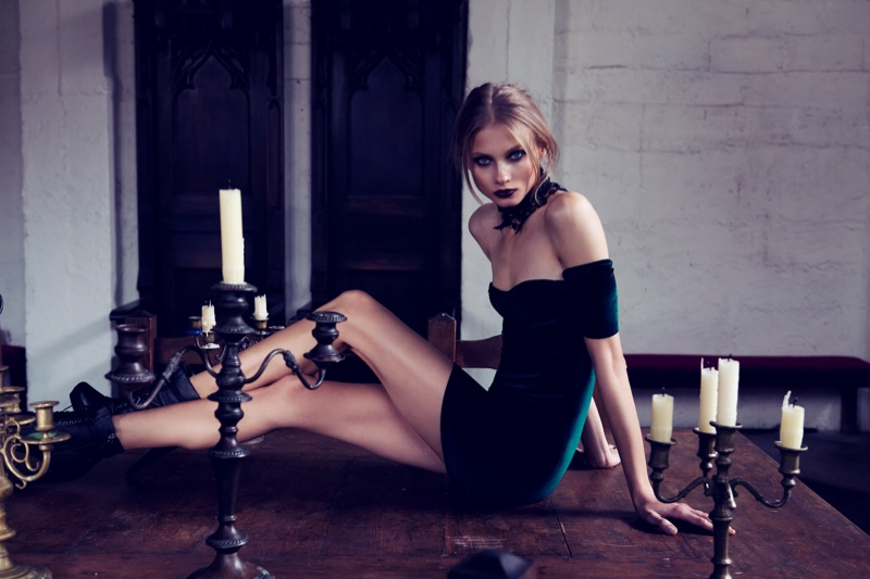 for love lemons vampire lb10 Anna Selezneva Gets Gothic in For Love & Lemons Fall 2013 Ads