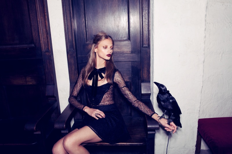 for love lemons vampire lb19 Anna Selezneva Gets Gothic in For Love & Lemons Fall 2013 Ads