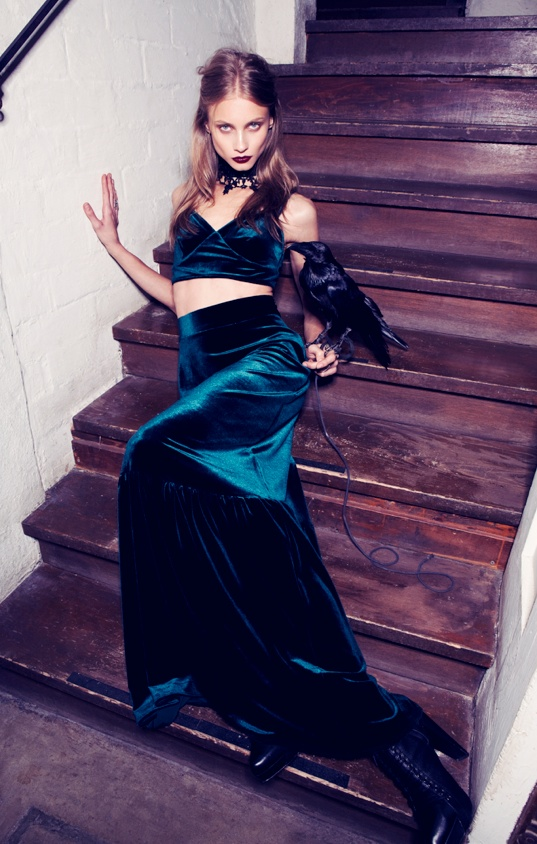 for love lemons vampire lb20 Anna Selezneva Gets Gothic in For Love & Lemons Fall 2013 Ads