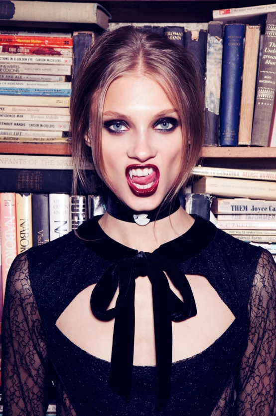 for love lemons vampire lb23 Anna Selezneva Gets Gothic in For Love & Lemons Fall 2013 Ads