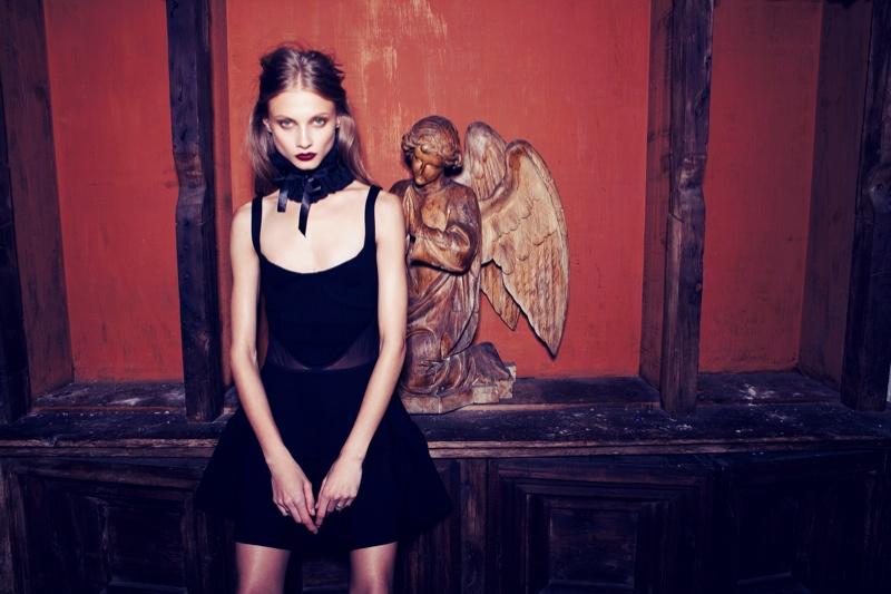 Anna Selezneva Gets Gothic in For Love & Lemons Fall 2013 Ads