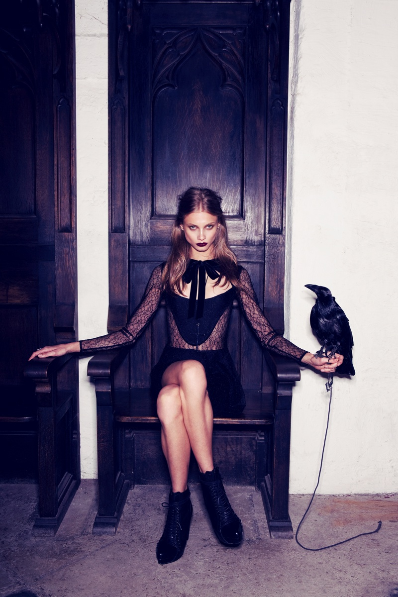 for love lemons vampire lb8 Anna Selezneva Gets Gothic in For Love & Lemons Fall 2013 Ads
