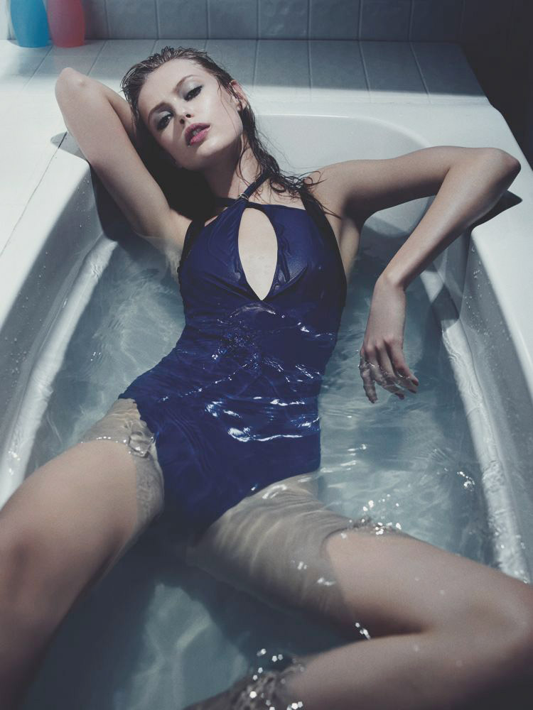 Frida Gustavsson Models Swimwear Looks for Interview by Robbie Fimmano