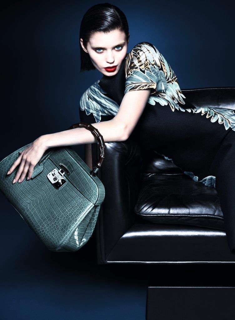 gucci fall ads3 Abbey Lee Kershaw Makes Her Return with Guccis Fall 2013 Campaign