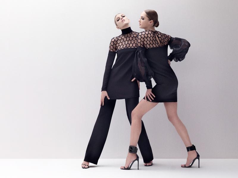 Anja Rubik and Karmen Pedaru Star in Gucci Style S/S 2013 by Benjamin Grillon