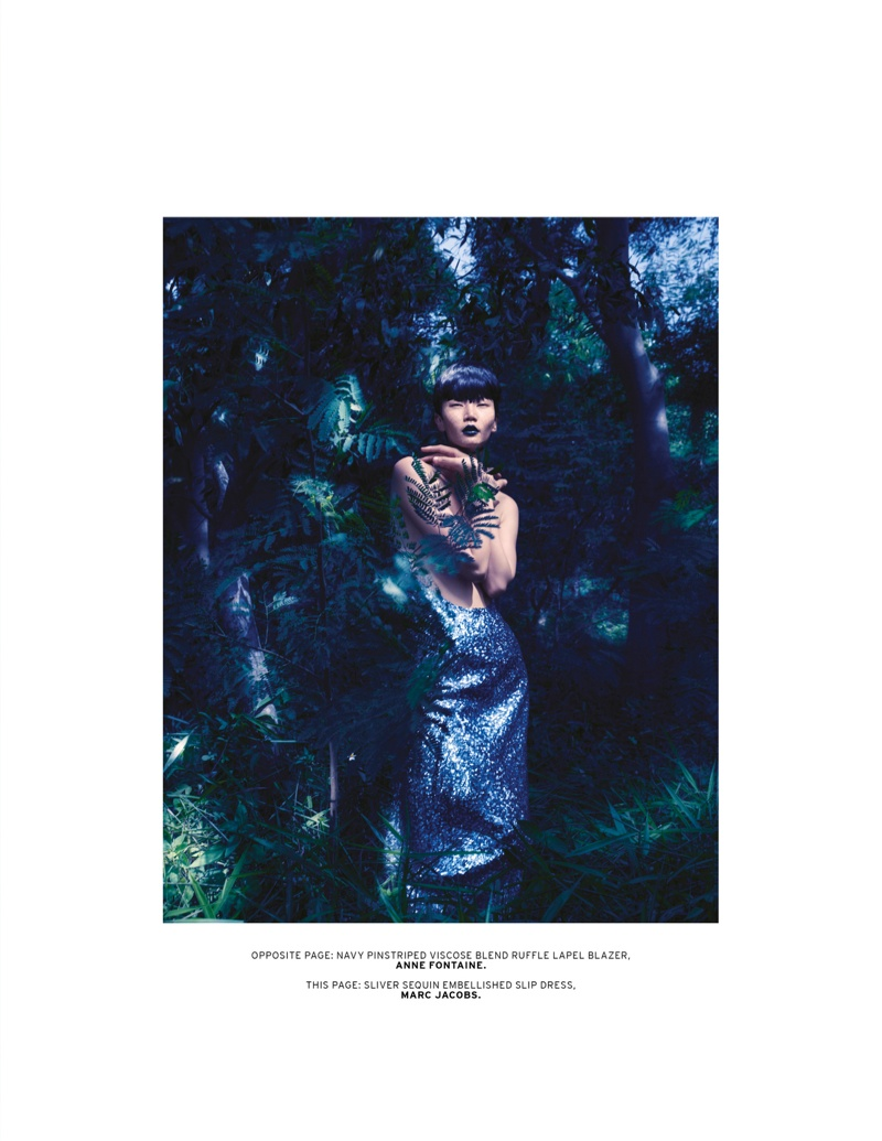 Gwen Lu Seduces for L'Officiel Singapore's August 2013 Cover Shoot