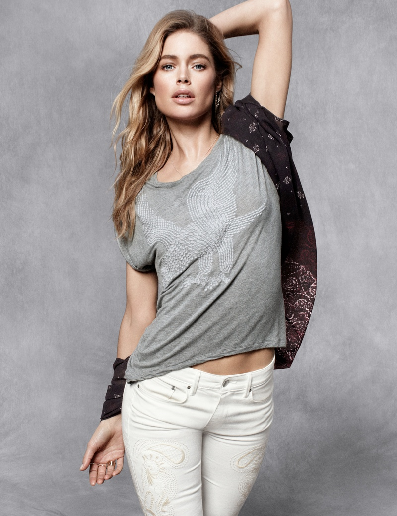 hm fall doutzen2 Doutzen Kroes Stars in H&M Fall Trend Update