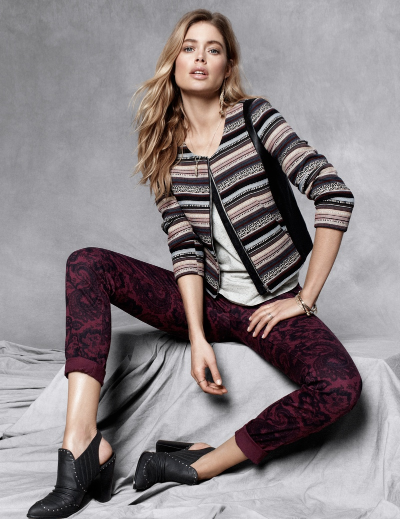 hm fall doutzen3 Doutzen Kroes Stars in H&M Fall Trend Update