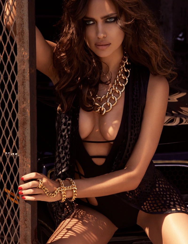 irina shayk gq russia6 Irina Shayk is Sexy in Black for GQ Russia August 2013 by David Roemer