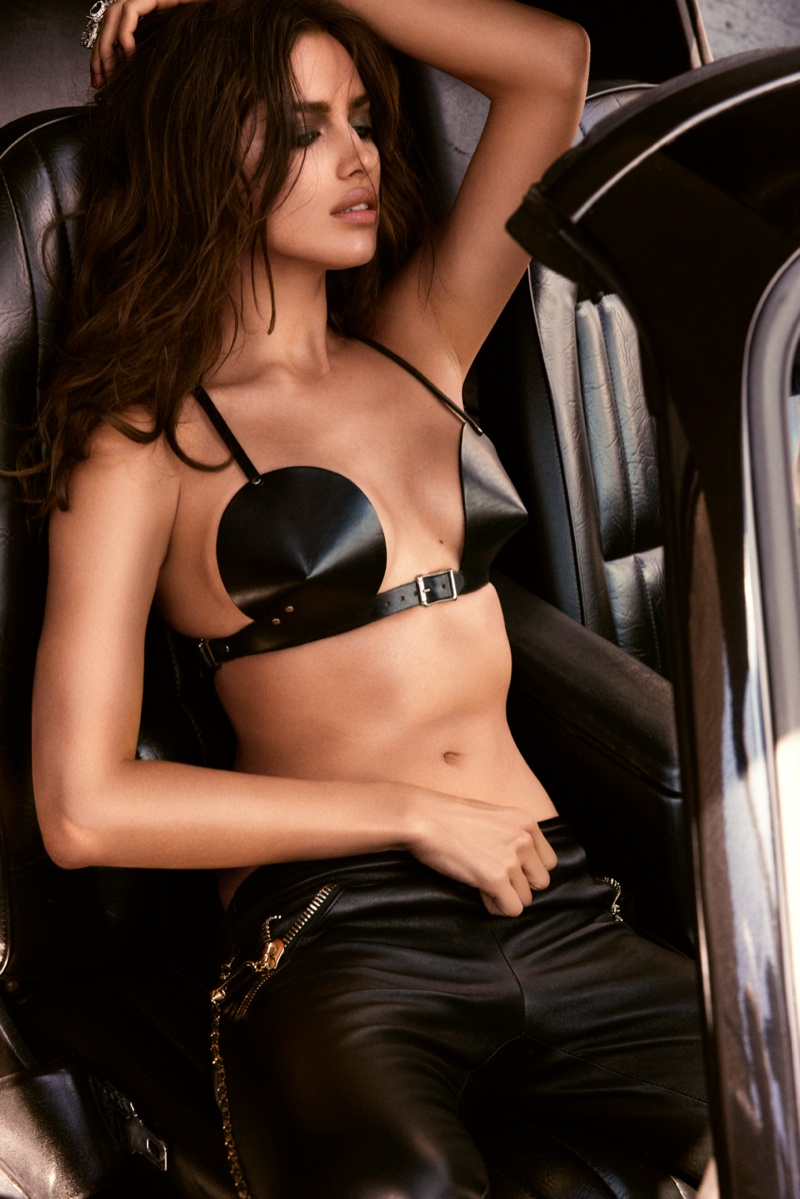 irina shayk gq russia8 Irina Shayk is Sexy in Black for GQ Russia August 2013 by David Roemer