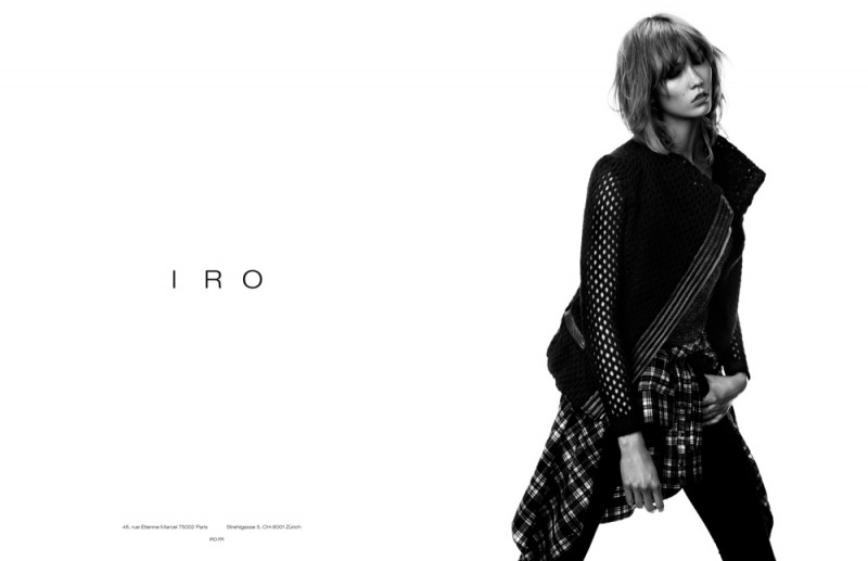 iro karlie kloss ads1 800x517 Exclusive: Karlie Kloss is Effortlessly Cool in Iros Fall 2013 Ads