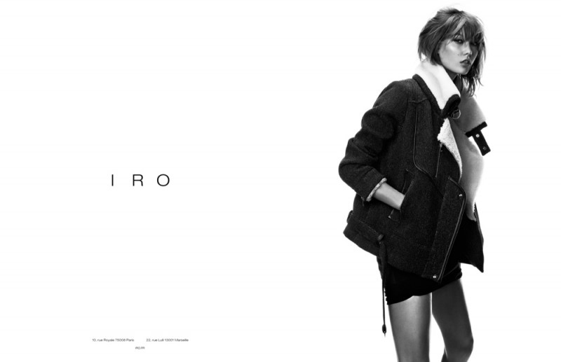 iro karlie kloss ads2 800x517 Exclusive: Karlie Kloss is Effortlessly Cool in Iros Fall 2013 Ads