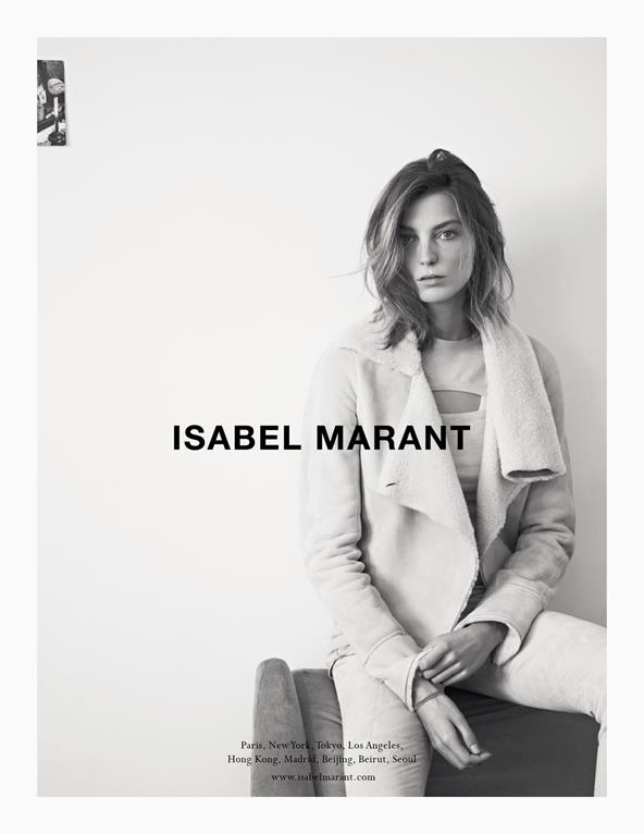 Isabel Marant Taps Daria Werbowy for Fall 2013 Campaign