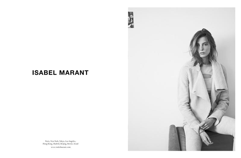 isabel marant fall campaign4 Isabel Marant Taps Daria Werbowy for Fall 2013 Campaign