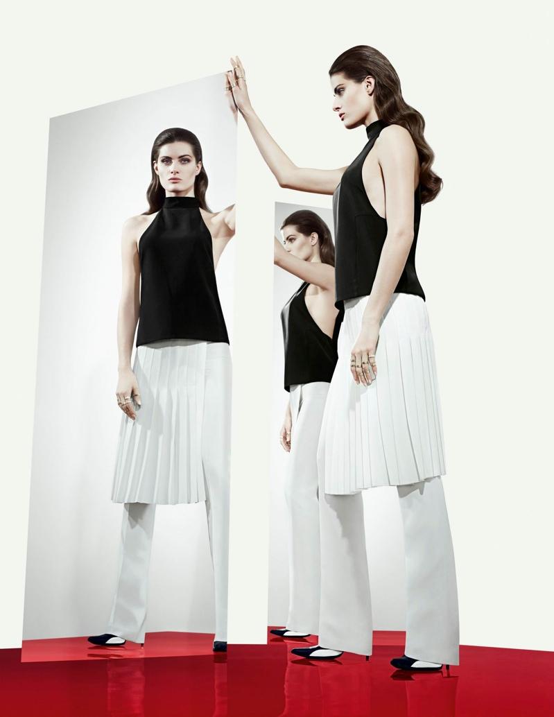 isabeli tufi duek ad4 Isabeli Fontana Lands Tufi Duek Spring 2014 Campaign