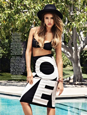 Jessica Alba Stars in Glamour France August 2013 by Jason Kim