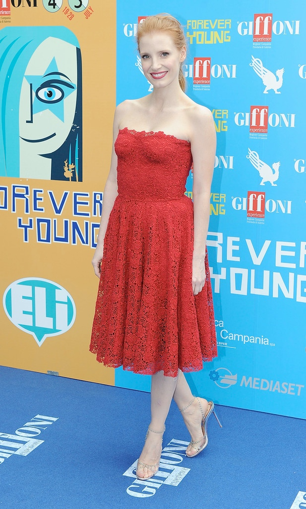 Jessica Chastain Dons Dolce & Gabbana at the Giffoni Film Festival