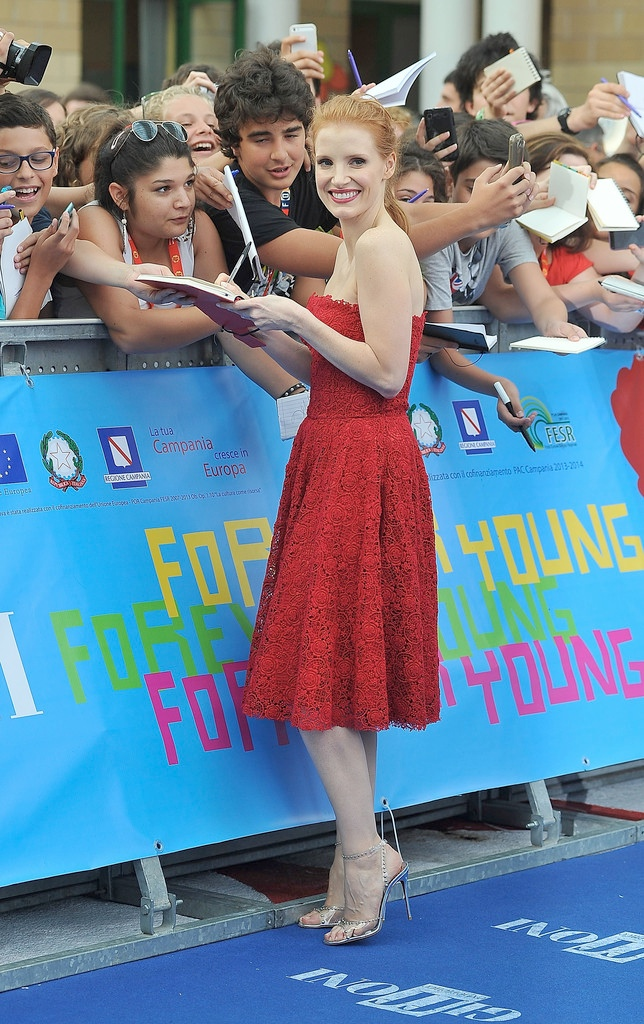 jessica chastain dolce3 Jessica Chastain Dons Dolce & Gabbana at the Giffoni Film Festival