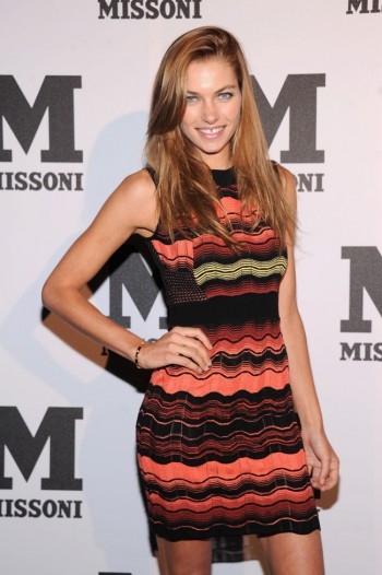 Jessica Hart Debuts Dark Hair at M Missoni Event