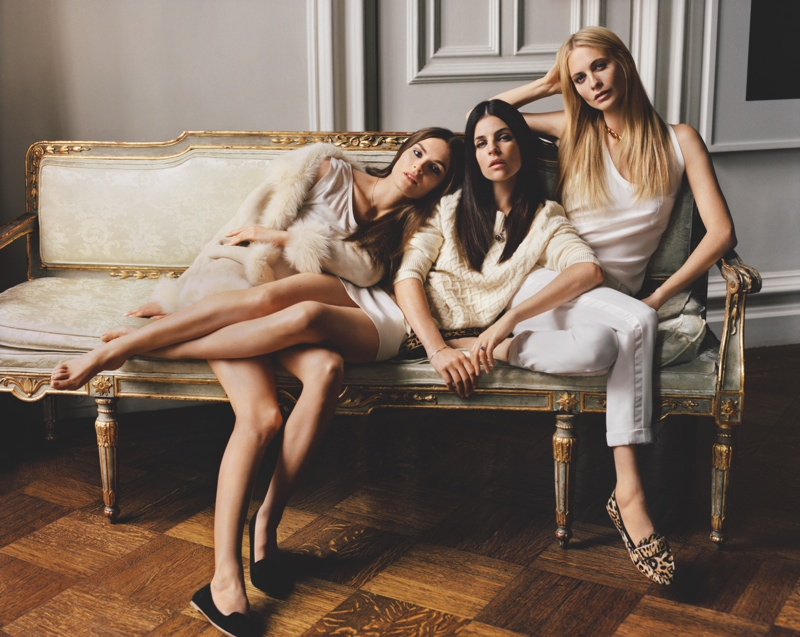 Joie Taps Julia Restoin Roitfeld, Poppy Delevingne and Anouck Lepere for Fall Ads
