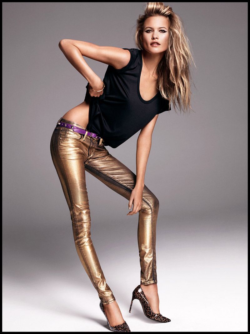 FLASHBACK: Behati Prinsloo wearing Juicy Couture jeans in 2013. Photo via Juicy Couture.