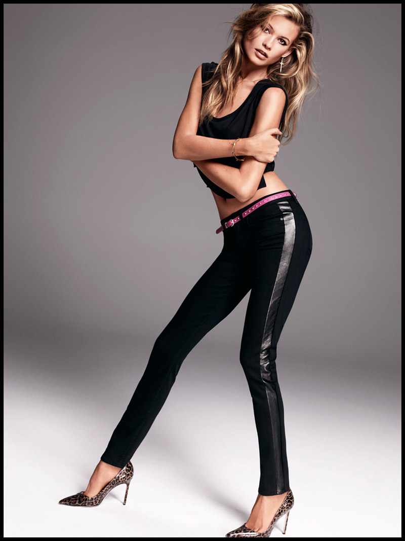 Behati Prinsloo Sizzles in Juicy Jeans Shoot for Fall