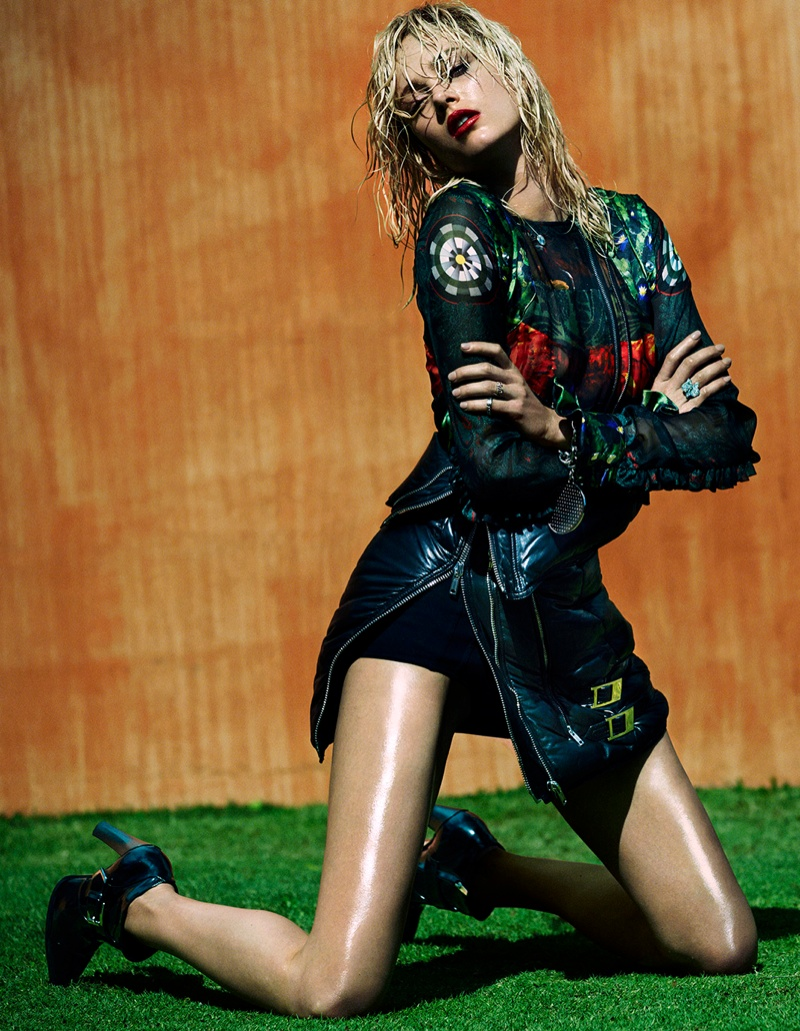 Karmen Pedaru Sizzles for Vogue Spain August Shoot by Greg Kadel