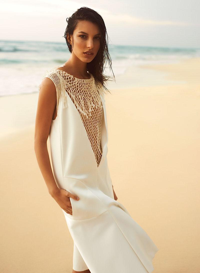 Kate King is a Beach Beauty for Harper's Bazaar Latin America by Alexander Neumann