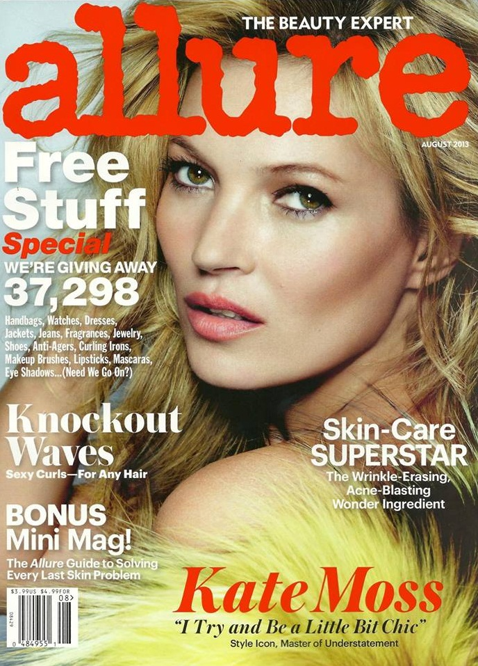 kate moss cover Kate Moss is the Cover Star of Allures August 2013 Issue