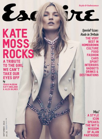 Kate Moss Covers First Men's Magazine in 17 Years for Esquire UK September 2013