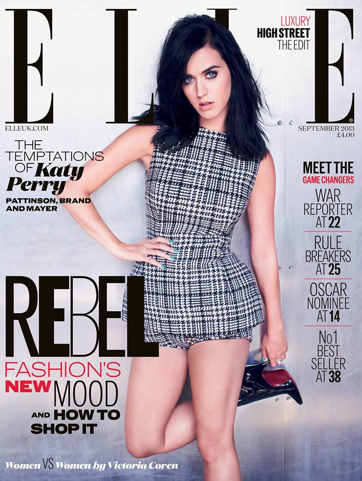 kate perry dolce gabbana Katy Perry Wears Dolce & Gabbana on Elle UKs September 2013 Cover