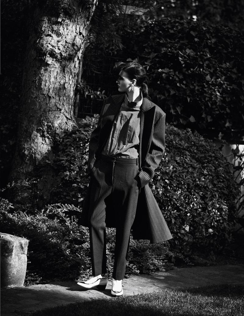 Katlin Aas Suits Up for Vogue Thailand July 2013 by Ward Ivan Rafik