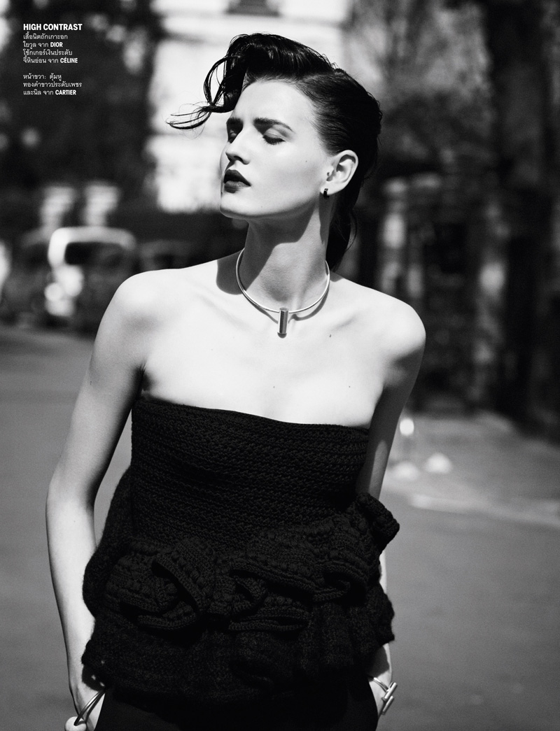 katlin aas ward8 Katlin Aas Suits Up for Vogue Thailand July 2013 by Ward Ivan Rafik