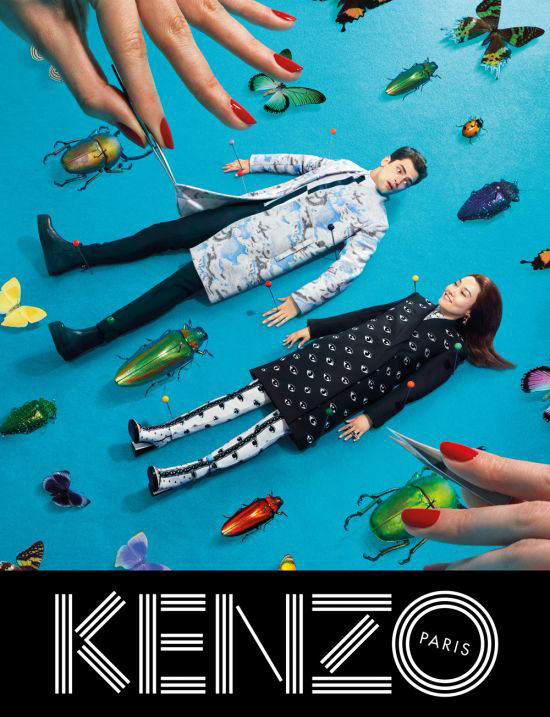 kenzo fall campaign1 Sean OPry Takes Flight for Kenzo Fall/Winter 2013 Campaign