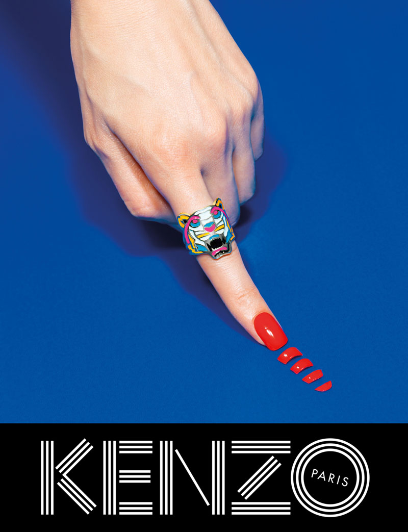 kenzo fall campaign2 Kenzo Embraces Fantasy for Fall 2013 Campaign with Rinko Kikuchi