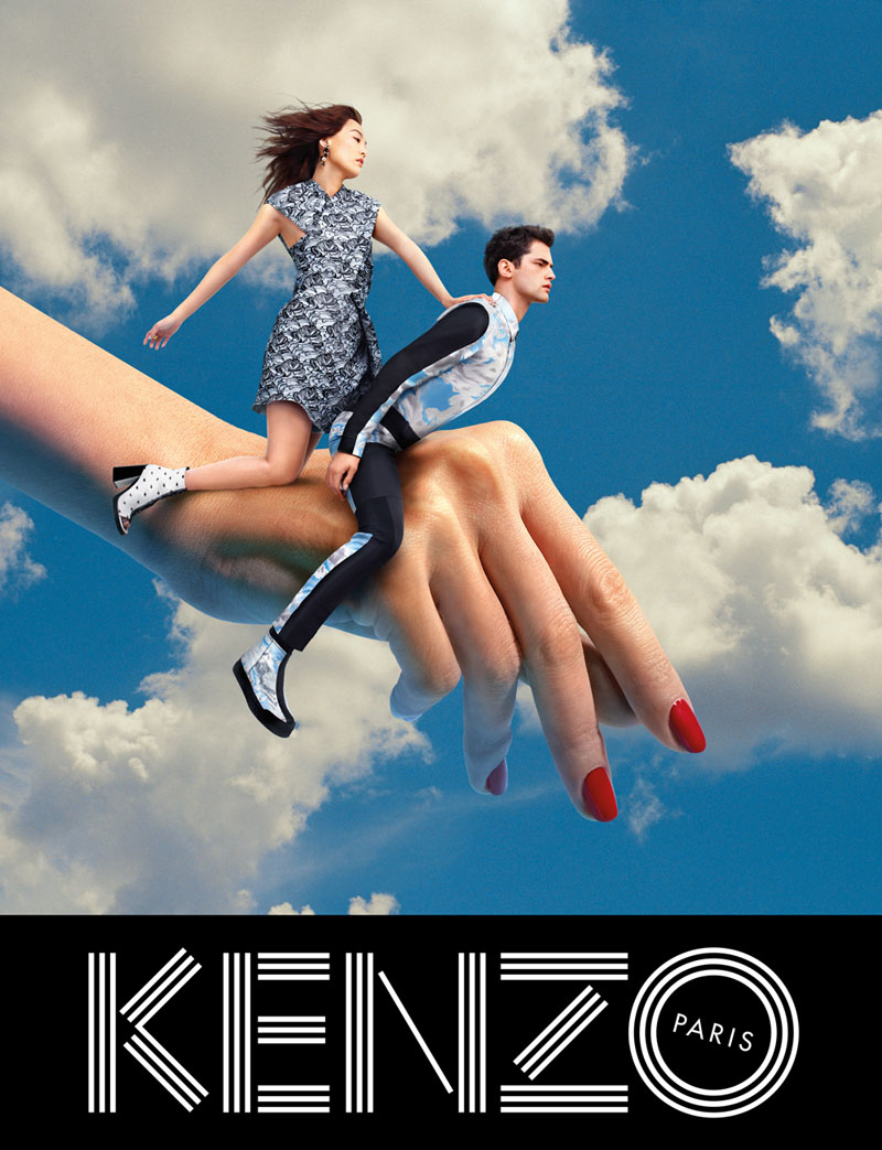 kenzo fall campaign4 Sean OPry Takes Flight for Kenzo Fall/Winter 2013 Campaign