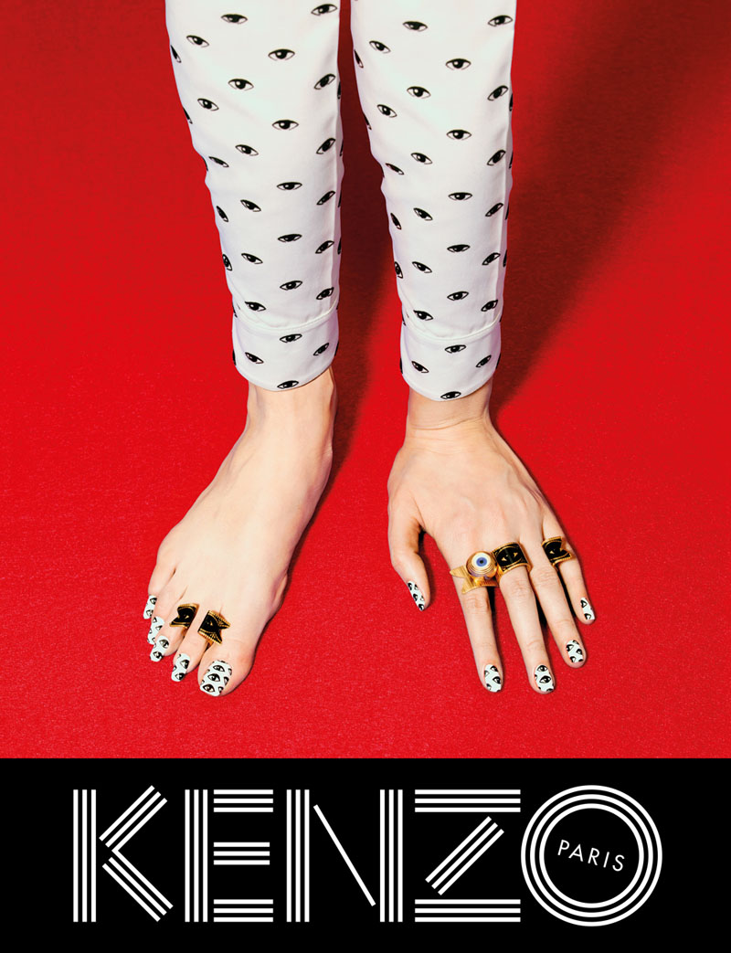 kenzo fall campaign8 Kenzo Embraces Fantasy for Fall 2013 Campaign with Rinko Kikuchi