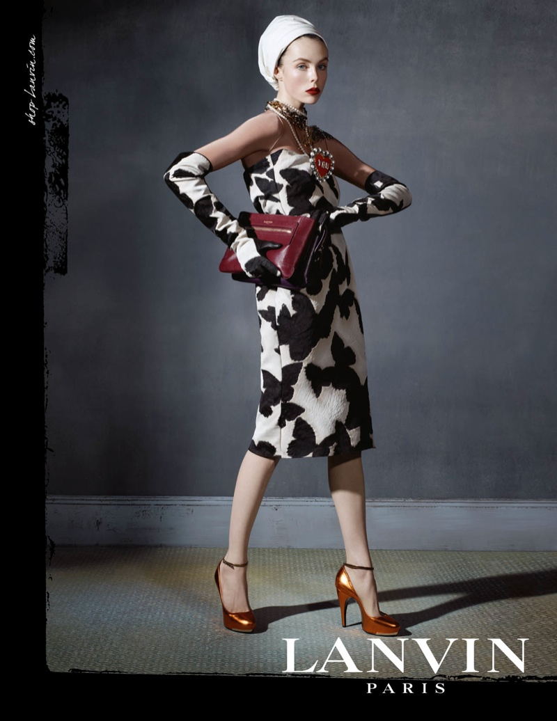 lanvin fw ads1 Edie Campbell Channels 6 Women for Lanvin Fall 2013 Campaign by Steven Meisel
