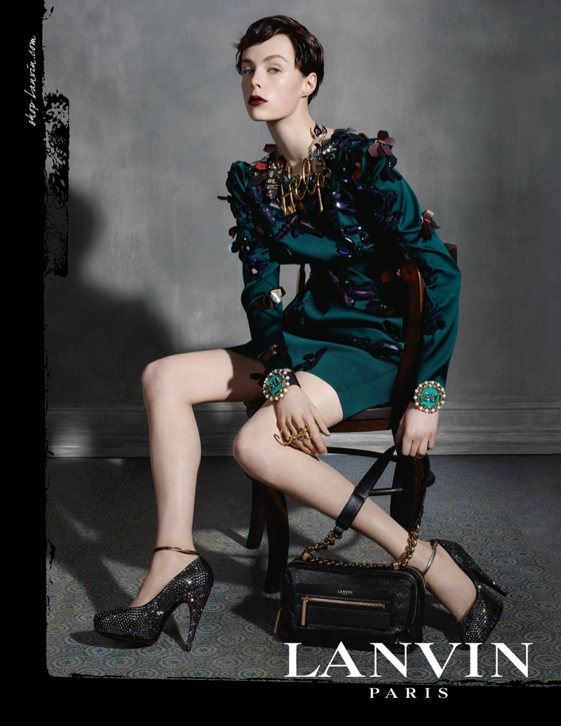 lanvin fw ads2 Edie Campbell Channels 6 Women for Lanvin Fall 2013 Campaign by Steven Meisel