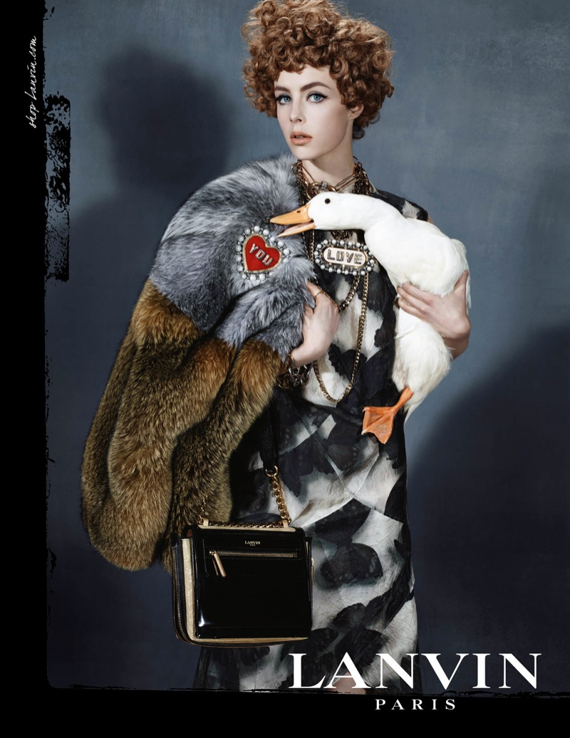 lanvin fw ads4 Edie Campbell Channels 6 Women for Lanvin Fall 2013 Campaign by Steven Meisel