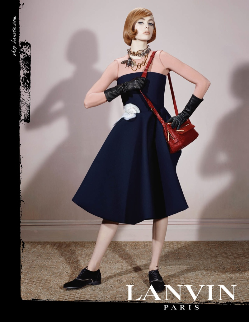 lanvin fw ads5 Edie Campbell Channels 6 Women for Lanvin Fall 2013 Campaign by Steven Meisel
