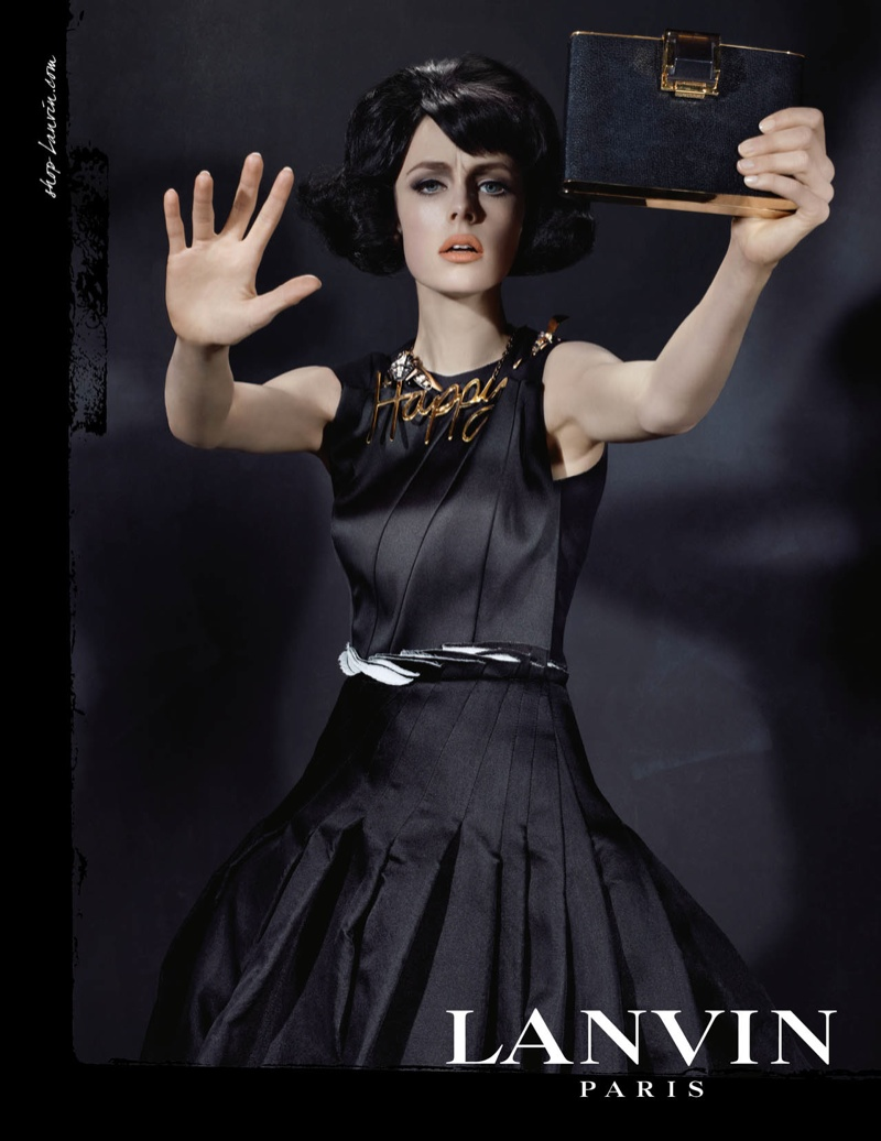lanvin fw ads6 Edie Campbell Channels 6 Women for Lanvin Fall 2013 Campaign by Steven Meisel