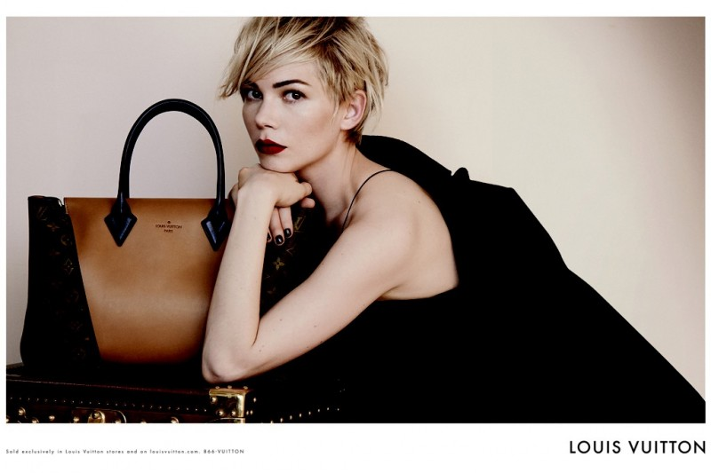 lv michelle williams 800x533 Michelle Williams Lands Louis Vuitton Campaign for Handbag Range