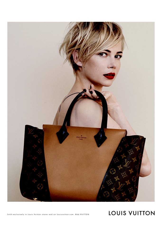 lv michelle williams1 Michelle Williams Lands Louis Vuitton Campaign for Handbag Range